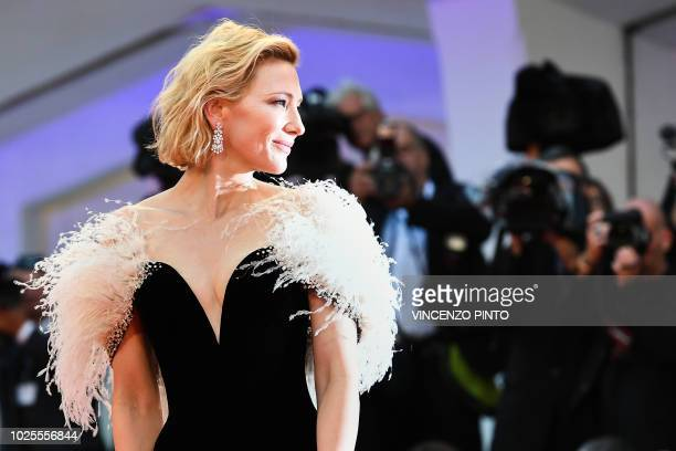 Actress Cate Blanchett arrives for the premiere of the film A Star is Born presented out of competition on August 31 2018 during the 75th Venice Film...