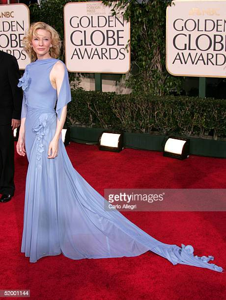 Actress Cate Blanchett arrives to the 62nd Annual Golden Globe Awards at the Beverly Hilton Hotel January 16 2005 in Beverly Hills California