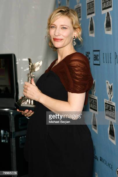 Actress Cate Blanchett at the Heineken Lounge at Film Independent's 2008 Independent Spirit Awards at the Santa Monica Pier on February 23, 2008 in...