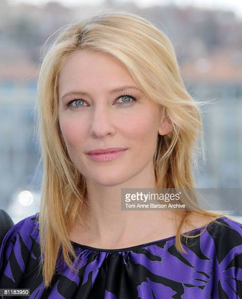 Actress Cate Blanchett attend the Indiana Jones and the Kingdom of the Crystal Skull photocall at the Palais des Festivals during the 61st Cannes...