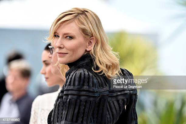 Actress Cate Blanchett attends a photocall for 'Carol' during the 68th annual Cannes Film Festival on May 17 2015 in Cannes France