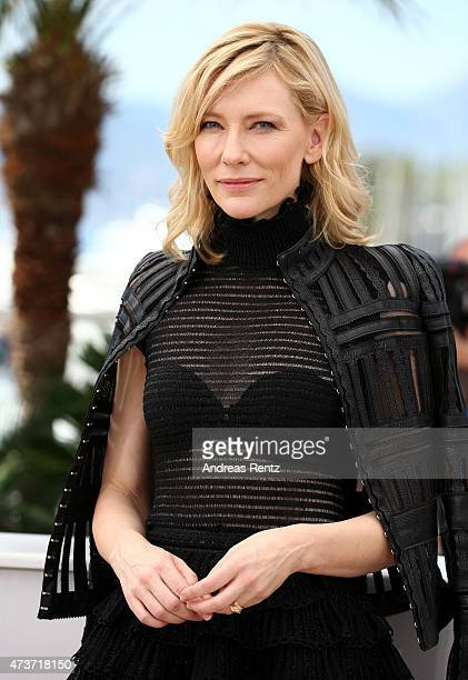 Actress Cate Blanchett attends a photocall for Carol during the 68th annual Cannes Film Festival on May 17 2015 in Cannes France