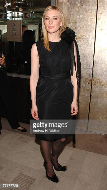 Actress Cate Blanchett attends a special screening afterparty for 'Elizabeth The Golden Age' hosted by The Cinema Society and W Magazine on October...
