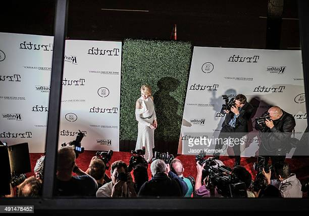 Actress Cate Blanchett attends an industry screening of Sony Pictures Classics' Truth at Samuel Goldwyn Theater on October 5 2015 in Beverly Hills...
