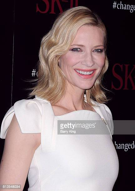 Actress Cate Blanchett attends SKII #ChangeDestiny Forum at the Andaz Hotel on February 26 2016 in Los Angeles California