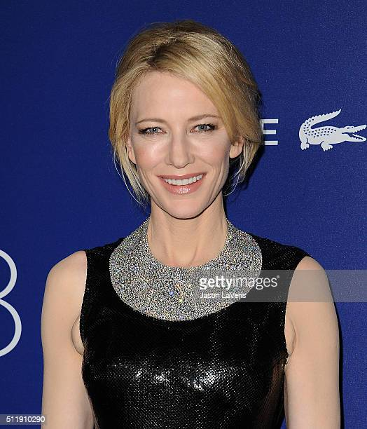 Actress Cate Blanchett attends the 18th Costume Designers Guild Awards at The Beverly Hilton Hotel on February 23 2016 in Beverly Hills California