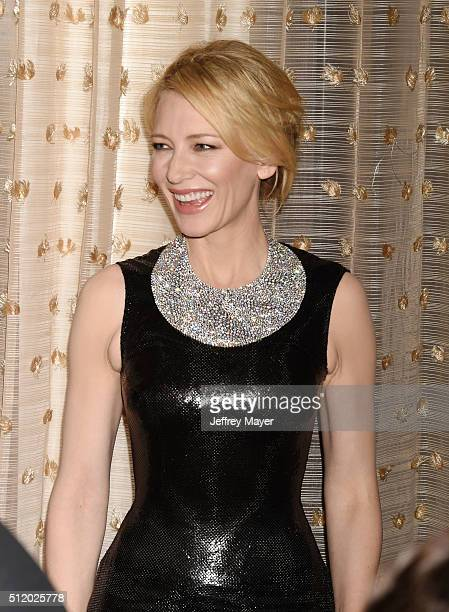 Actress Cate Blanchett attends the 18th Costume Designers Guild Awards at The Beverly Hilton Hotel on February 23, 2016 in Beverly Hills, California.