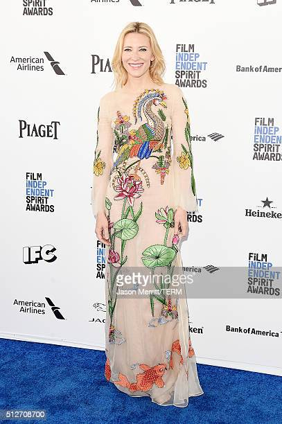 Actress Cate Blanchett attends the 2016 Film Independent Spirit Awards on February 27 2016 in Santa Monica California