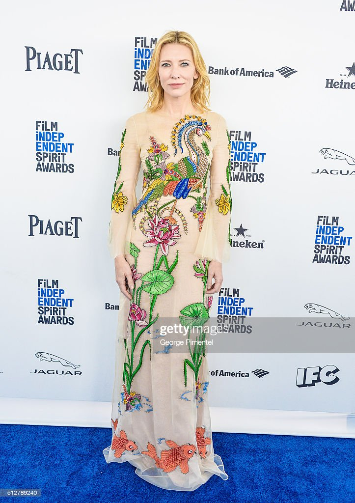 Actress Cate Blanchett attends the 2016 Film Independent Spirit Awards on February 27, 2016 in Santa Monica, California.
