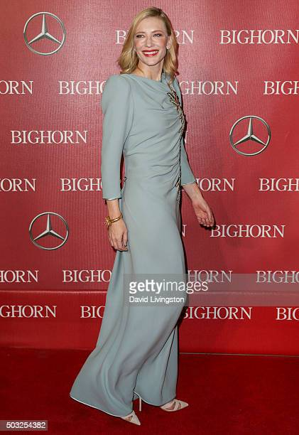 Actress Cate Blanchett attends the 27th Annual Palm Springs International Film Festival Awards Gala at the Palm Springs Convention Center on January...
