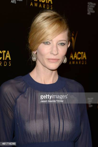 Actress Cate Blanchett attends the 3rd AACTA International Awards at Sunset Marquis Hotel Villas on January 10 2014 in West Hollywood California