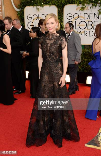 Actress Cate Blanchett attends the 71st Annual Golden Globe Awards held at The Beverly Hilton Hotel on January 12 2014 in Beverly Hills California