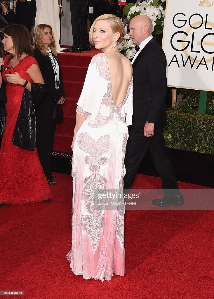 Actress Cate Blanchett attends the 73rd Annual Golden Globe Awards held at the Beverly Hilton Hotel on January 10, 2016 in Beverly Hills, California.