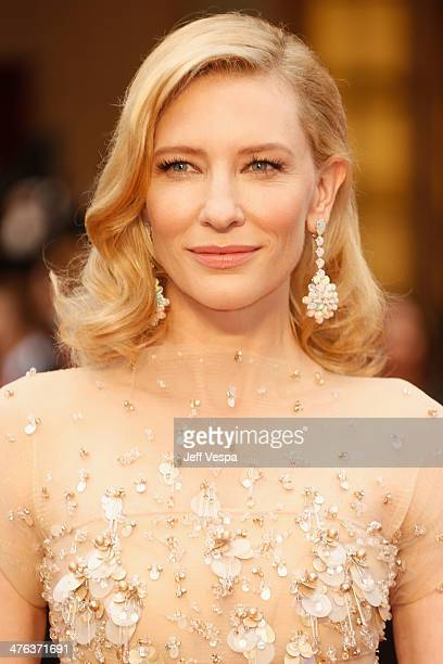 Actress Cate Blanchett attends the 86th Oscars held at Hollywood Highland Center on March 2 2014 in Hollywood California