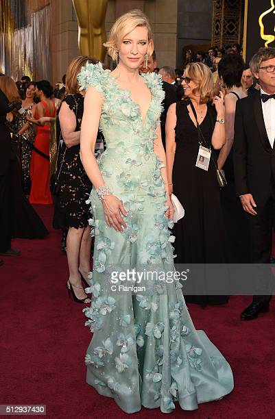 Actress Cate Blanchett attends the 88th Annual Academy Awards at the Hollywood Highland Center on February 28 2016 in Hollywood California