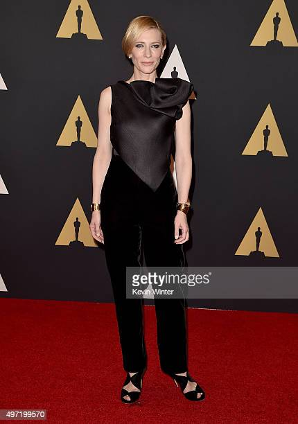Actress Cate Blanchett attends the Academy of Motion Picture Arts and Sciences' 7th annual Governors Awards at The Ray Dolby Ballroom at Hollywood...