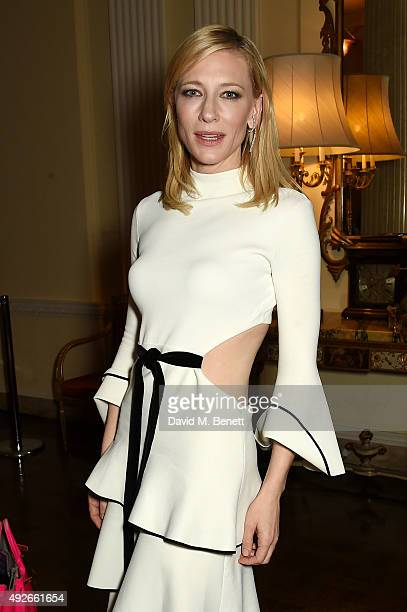 Actress Cate Blanchett attends The Academy Of Motion Pictures Arts Sciences new members reception hosted by Ambassador Matthew Barzun and Mrs Brooke...