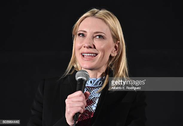 Actress Cate Blanchett attends the American Cinematheque's Screeing and QA for The Weinstein Company's Carol at the Egyptian Theatre on January 7...