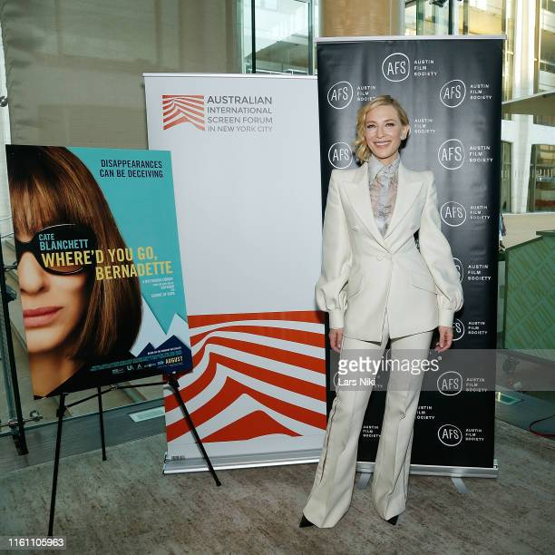 """Actress Cate Blanchett attends The Austin Film Society and Australian International Screen Forum """"Where'd You Go, Bernadette"""" private dinner at..."""