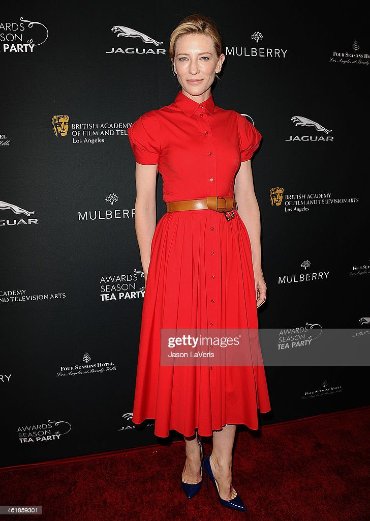 Actress Cate Blanchett attends the BAFTA LA 2014 awards season tea party at Four Seasons Hotel Los Angeles at Beverly Hills on January 11, 2014 in Beverly Hills, California.