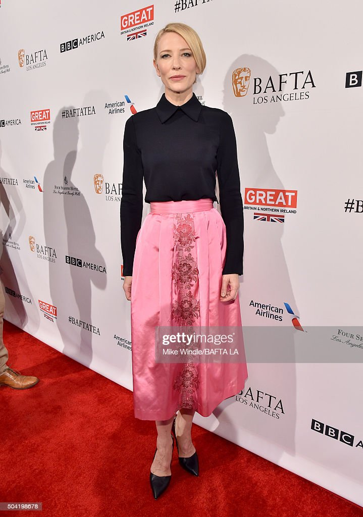 Actress Cate Blanchett attends the BAFTA Los Angeles Awards Season Tea at Four Seasons Hotel Los Angeles at Beverly Hills on January 9, 2016 in Los Angeles, California.