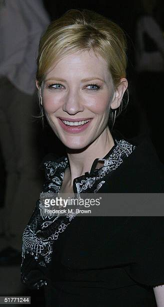 "Actress Cate Blanchett attends the film premiere of ""The Life Aquatic With Steve Zissou"" on November 20, 2004 at the Harmony Gold Theater, in Los..."