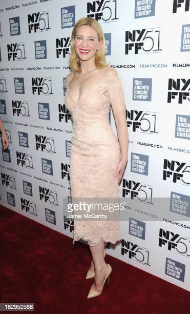 Actress Cate Blanchett attends the Gala Tribute for Cate Blanchett during the 51st New York Film Festival at Alice Tully Hall at Lincoln Center on...