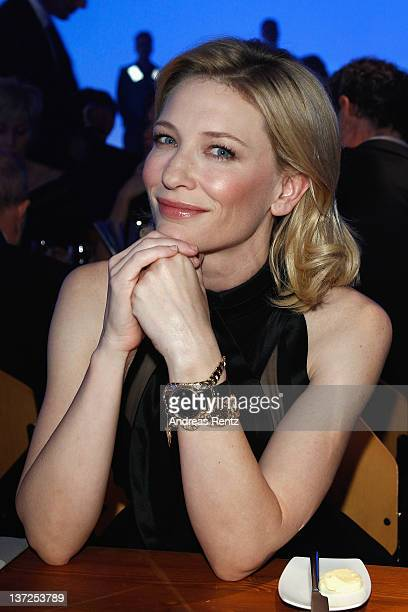Actress Cate Blanchett attends the IWC Schaffhausen Top Gun Gala Event during the 22nd SIHH High Jewellery Fair at the Palexpo Exhibition Hall on...