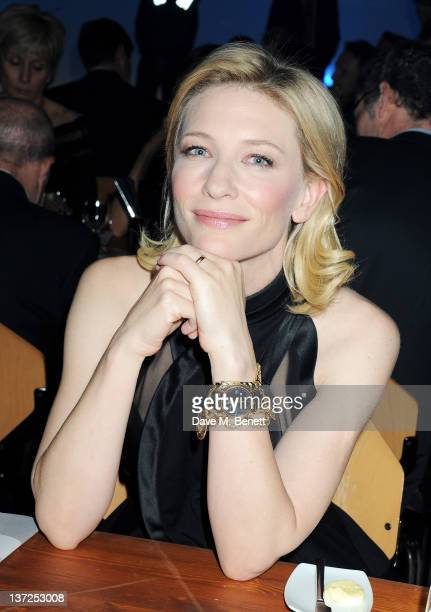 Actress Cate Blanchett attends the IWC Top Gun Gala Event at 22nd SIHH High Jewellery Fair on at the Palexpo Exhibition Hall January 17, 2012 in...