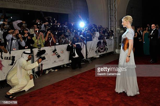 Actress Cate Blanchett attends the Life of PI Opening Gala during day one of the 9th Annual Dubai International Film Festival held at the Madinat...