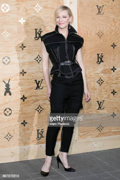 Actress Cate Blanchett attends the 'Louis Vuitton Masters a collaboration with Jeff Koons' dinner at Musee du Louvre on April 11 2017 in Paris France