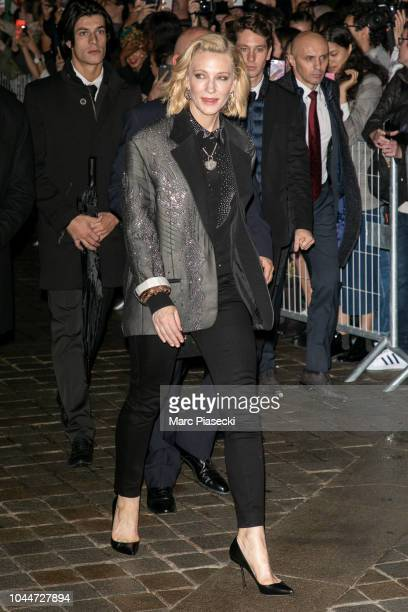 Actress Cate Blanchett attends the Louis Vuitton show as part of the Paris Fashion Week Womenswear Spring/Summer 2019 on October 2, 2018 in Paris,...
