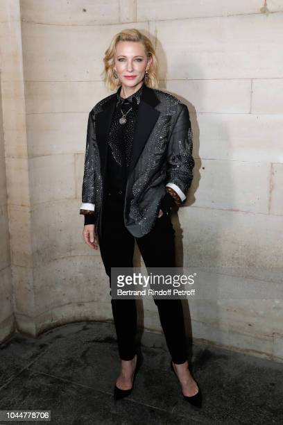 Actress Cate Blanchett attends the Louis Vuitton show as part of the Paris Fashion Week Womenswear Spring/Summer 2019 on October 2 2018 in Paris...