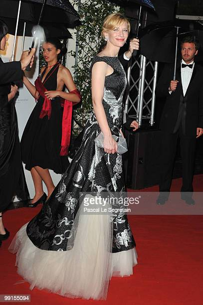 Actress Cate Blanchett attends the Opening Ceremony Dinner at the Majestic Hotel during the 63rd International Cannes Film Festival on May 12 2010 in...
