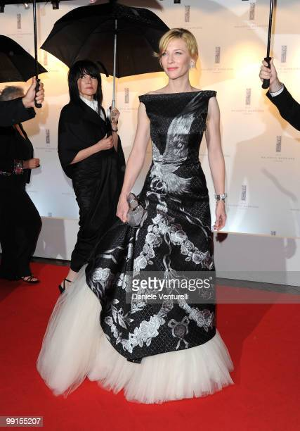 Actress Cate Blanchett attends the Opening Night Dinner at the Hotel Majestic during the 63rd Annual International Cannes Film Festival on May 12...