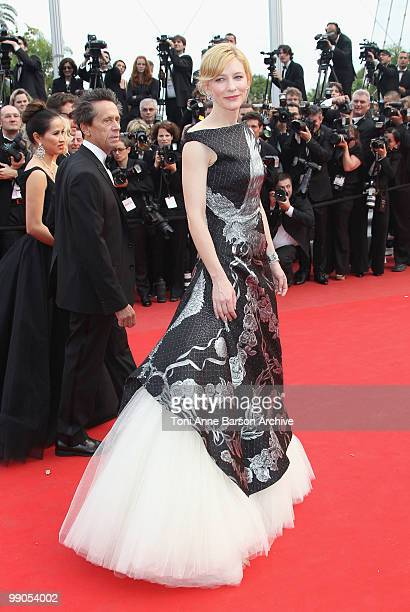 Actress Cate Blanchett attends the Opening Night Premiere of 'Robin Hood' at the Palais des Festivals during the 63rd Annual International Cannes...