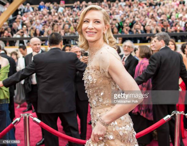 Actress Cate Blanchett attends the Oscars at Hollywood Highland Center on March 2 2014 in Hollywood California