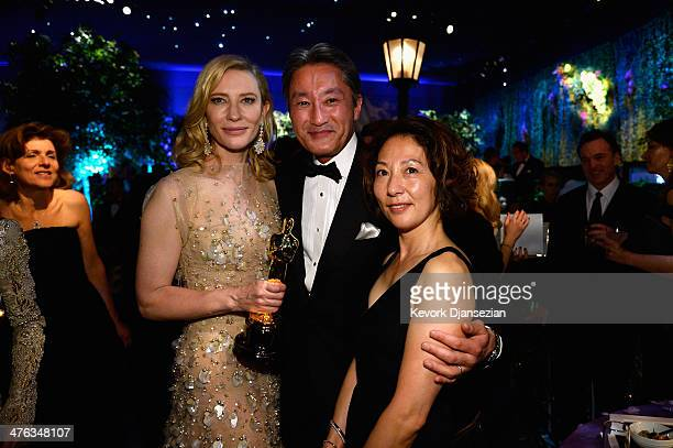 Actress Cate Blanchett attends the Oscars Governors Ball at Hollywood Highland Center on March 2 2014 in Hollywood California