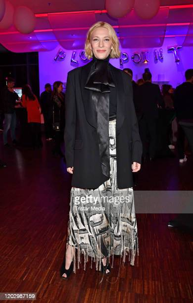 Actress Cate Blanchett attends the Plot Point Party during the 70th Berlinale International Film Festival Berlin at Stilwerk on February 23, 2020 in...