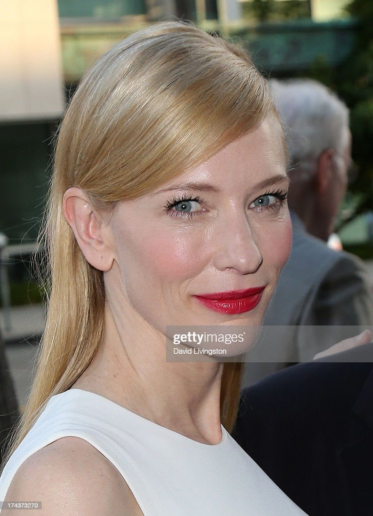 Actress Cate Blanchett attends the premiere of 'Blue Jasmine' hosted by the AFI & Sony Picture Classics at the AMPAS Samuel Goldwyn Theater on July 24, 2013 in Beverly Hills, California.