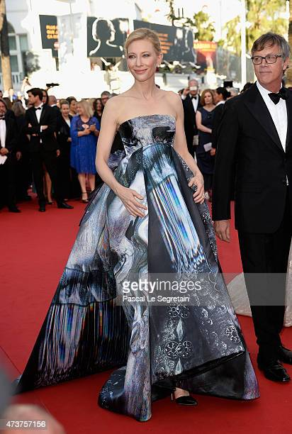 Actress Cate Blanchett attends the Premiere of Carol during the 68th annual Cannes Film Festival on May 17 2015 in Cannes France