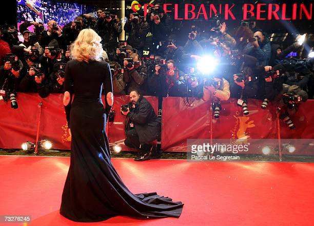 Actress Cate Blanchett attends the premiere of the movie 'The Good German' during the 57th Berlin International Film Festival on February 9 2007 in...