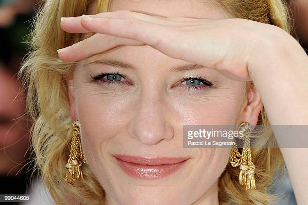 Actress Cate Blanchett attends the 'Robin Hood' Photocall at the Palais des Festivals during the 63rd Annual Cannes Film Festival on May 12 2010 in...