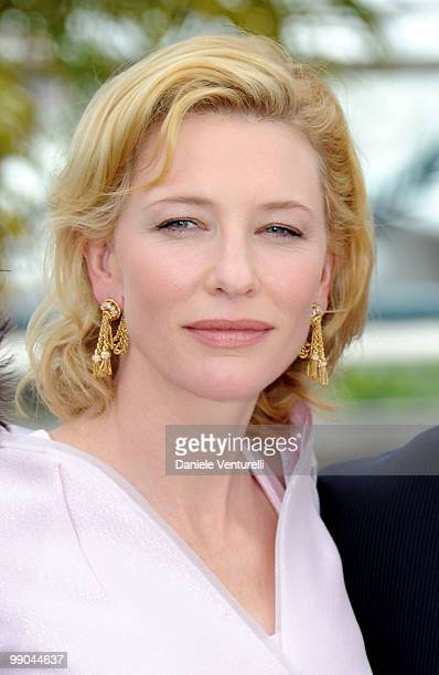 Actress Cate Blanchett attends the 'Robin Hood' Photocall held at the Palais Des Festivals during the 63rd Annual International Cannes Film Festival...