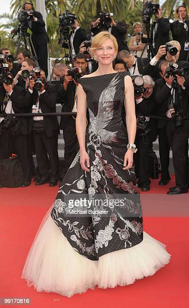 Actress Cate Blanchett attends the 'Robin Hood' Premiere at the Palais des Festivals during the 63rd Annual Cannes Film Festival on May 12 2010 in...