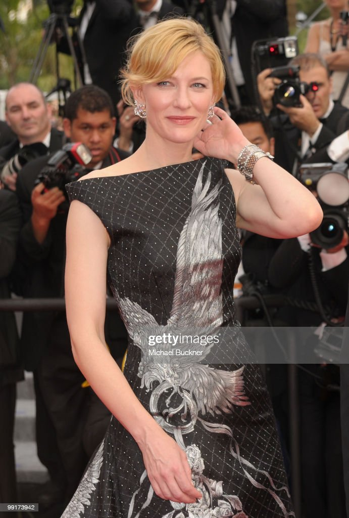 Actress Cate Blanchett attends the 'Robin Hood' Premiere at the Palais des Festivals during the 63rd Annual Cannes Film Festival on May 12, 2010 in Cannes, France.