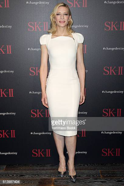 Actress Cate Blanchett attends the SKII #ChangeDestiny Forum held at the Andaz Hotel on February 26 2016 in Los Angeles California