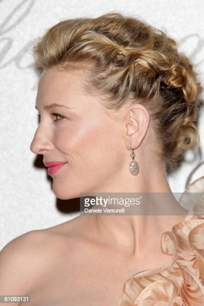 Actress Cate Blanchett attends the Soiree Chopard photocall during the 2008 Cannes Film Festival on May 14 2008 in Cannes France