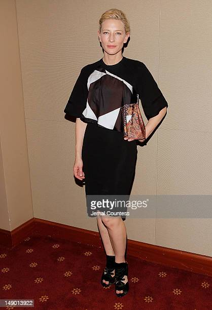 Actress Cate Blanchett attends the Uncle Vanya cast photo call at New York City Center on July 21 2012 in New York City