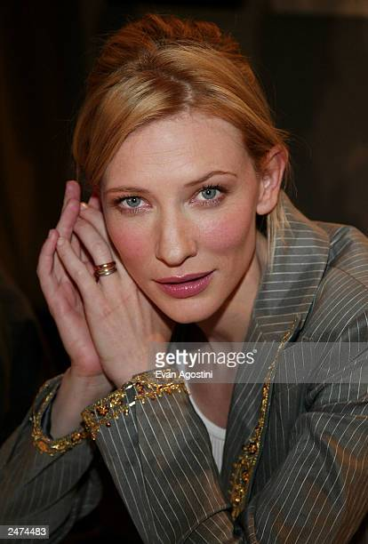 Actress Cate Blanchett attends the 'Veronica Guerin' press conference during the 2003 Toronto International Film Festival at the Delta Chelsea Hotel...